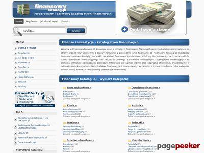 Finanse i ubezpieczenia - FinansowyKatalog.pl