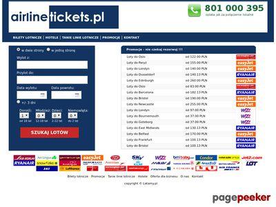 Tanie linie, Tanie bilety lotnicze - Airlinetickets.pl