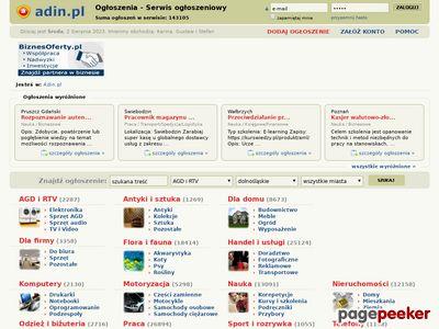 Ogłoszenia drobne w internecie - Adin.pl