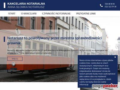 Notariat Bydgoszcz - Kancelaria Notarialna Anna Słomka