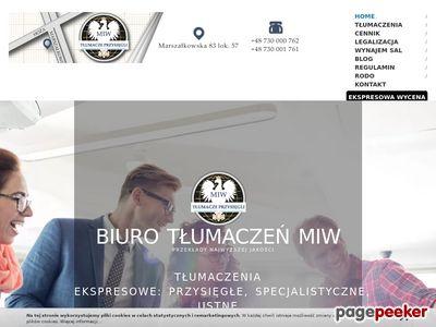 Agencja Tłumaczeń- MIW
