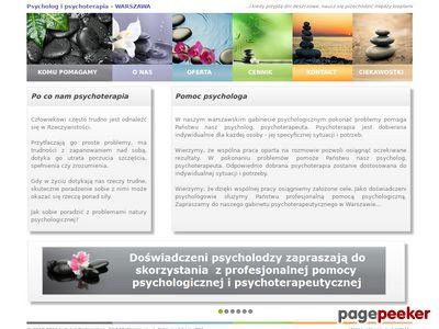 Psycholog, psychoterapia Warszawa