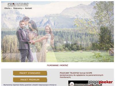PRO-WIDEO Filmowanie wesel, Kamerzysta na wesele,
