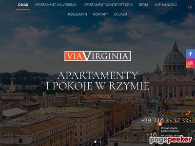 Noclegi w Rzymie u polaków -ViaVirginia