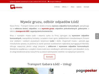 Transport hds Łódź transport-gabara.pl