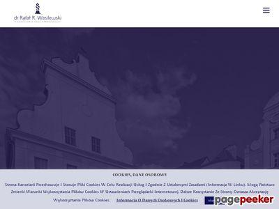 Dr Rafał R. Wasilewski - Kancelaria prawna w Szczecinie