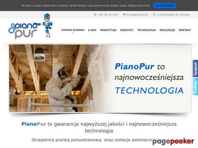 PianoPur izolacja natryskowa Wrocław