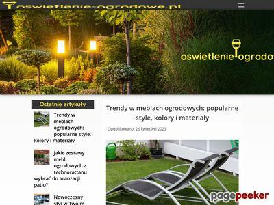 Sklep internetowy z oświetleniem do wnętrz i ogrodu