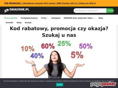 Kody rabatowe, promocje, okazje - kupuj taniej na okazone.pl