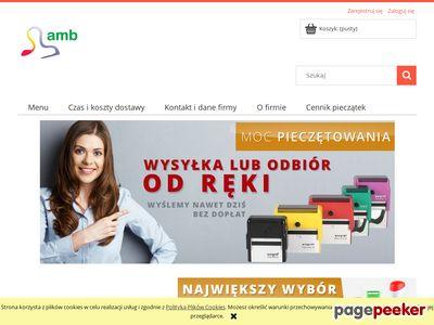 Kup pieczątki i wizytówki w sklepie internetowym AMB.